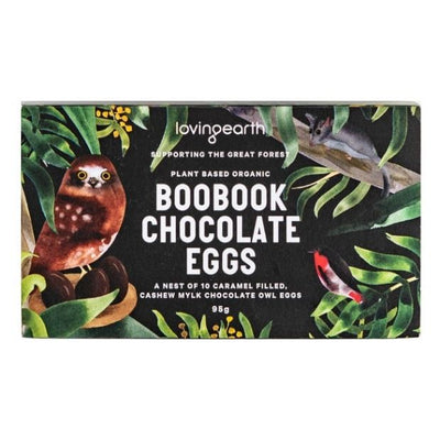 Loving Earth Boobook Raw Chocolate Eggs 100g - Happy Tummies