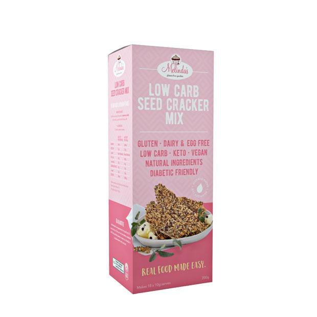 Melindas Low Carb Seed Cracker Mix 200g - Happy Tummies