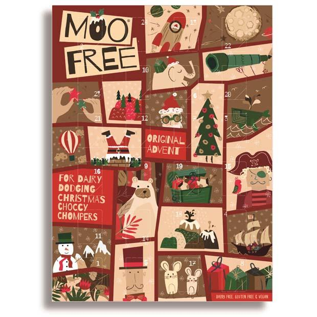 Moo Free Advent Calendar Original 70g