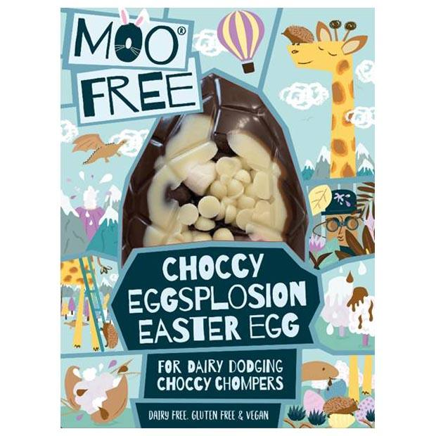 Moo Free Choccy Explosion Easter Egg 80g