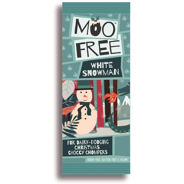 Moo Free Snowman White Chocolate 32g