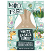 Moo Free White Chocolate Easter Bunny 80g