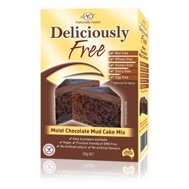 Naturally Good Deliciously Free Chocolate Mud Cake Mix 450g - Happy Tummies