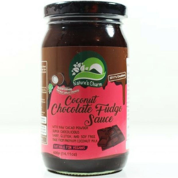 Natures Charm Coconut Chocolate Fudge Sauce 400g - Happy Tummies