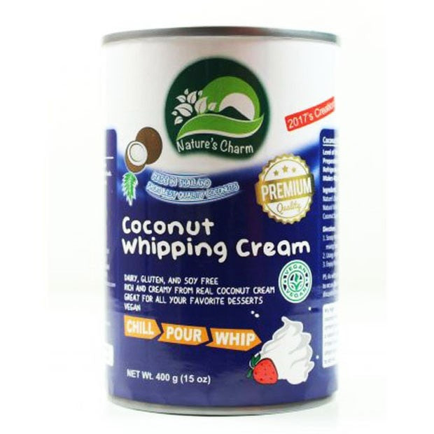 Natures Charm Coconut Whipping Cream 400g - Happy Tummies