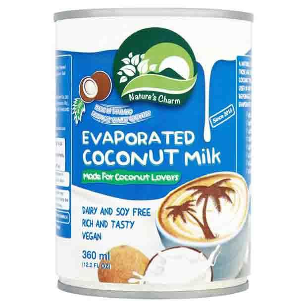 Natures Charm Evaporated Coconut Milk 360ml - Happy Tummies