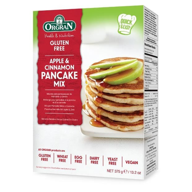 Orgran Apple and Cinnamon Pancake Mix 375g - Happy Tummies