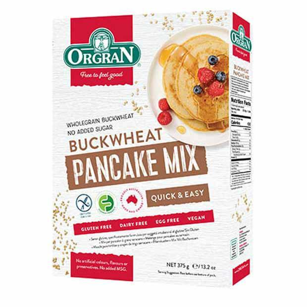 Orgran Buckwheat Pancake Mix 375g - Happy Tummies