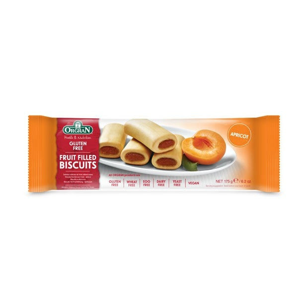 Orgran Fruit Filled Biscuits Apricot 175g - Happy Tummies