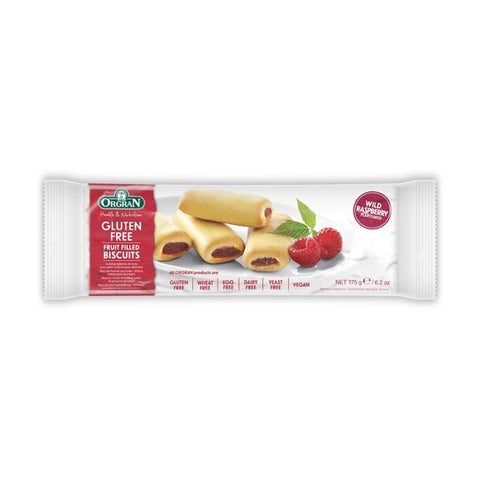 Orgran Fruit Filled Biscuits Raspberry 175g
