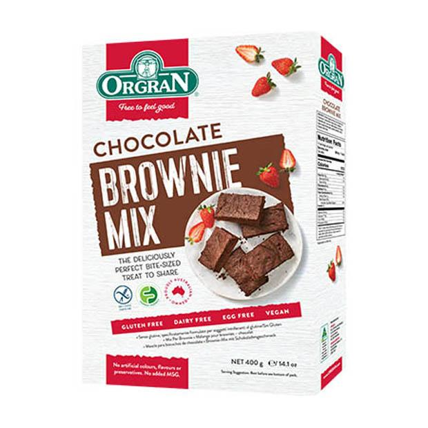 Orgran Chocolate Brownie Mix 400g - Happy Tummies