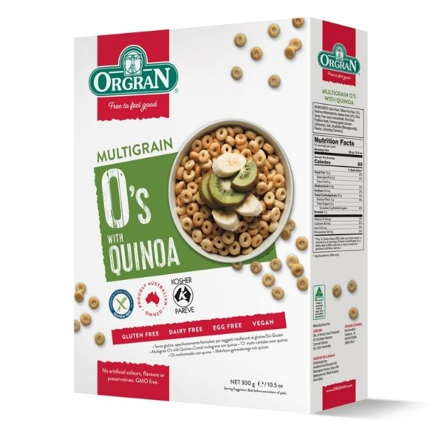 Orgran Multigrain Os With Quinoa 300g - Happy Tummies