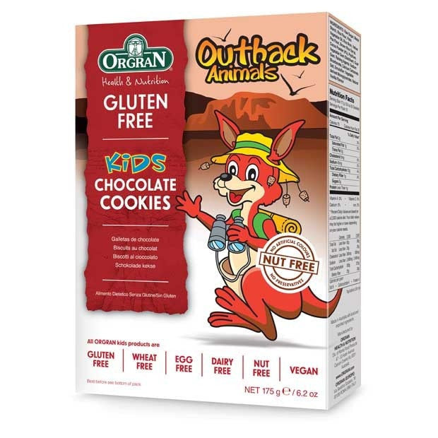 Orgran Outback Animal Chocolate Cookies 175g - Happy Tummies