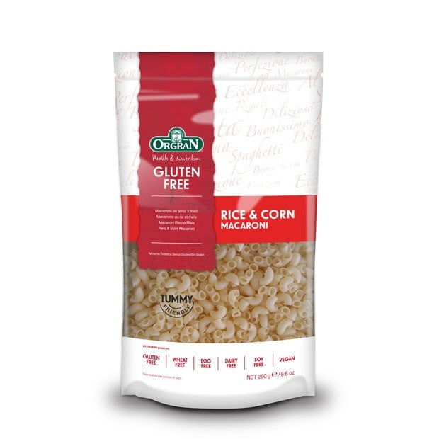 Orgran Rice and Corn Macaroni Pasta 250g - Happy Tummies