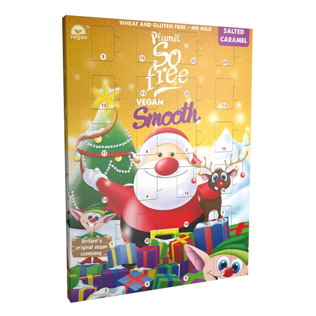 Plamil So Free Advent Calendar with Salted Caramel Chocolate 110g