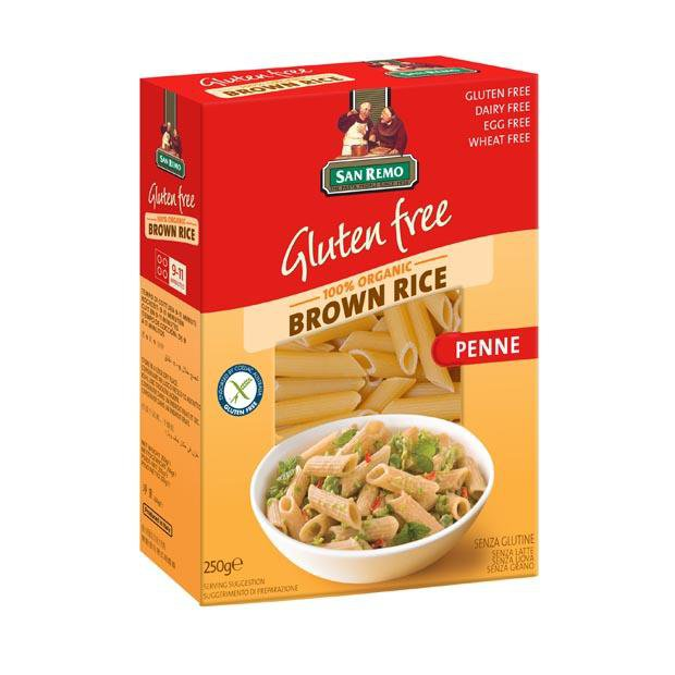 San Remo Gluten Free Organic Brown Rice Penne 250g - Happy Tummies
