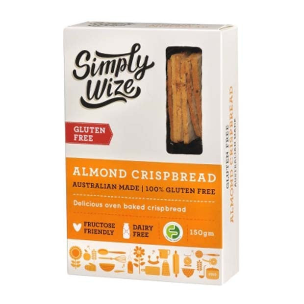 Simply Wize Almond Crispbread 150g - Happy Tummies