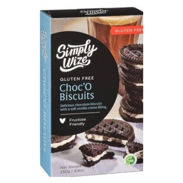 Simply Wize Choco Biscuits 250g - Happy Tummies