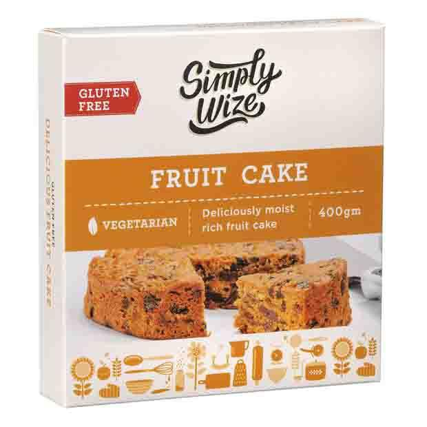 Simply Wize Gluten Free Fruit Cake 400g - Happy Tummies