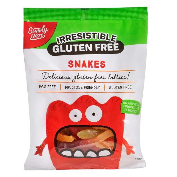 Simply Wize Irresistible Gluten Free Snakes 150g - Happy Tummies