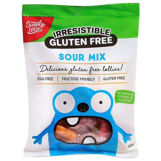Simply Wize Irresistible Gluten Free Sour Mix 150g