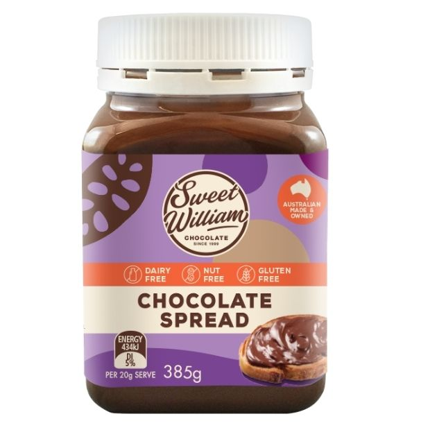 Sweet William Chocolate Spread 385g - Happy Tummies