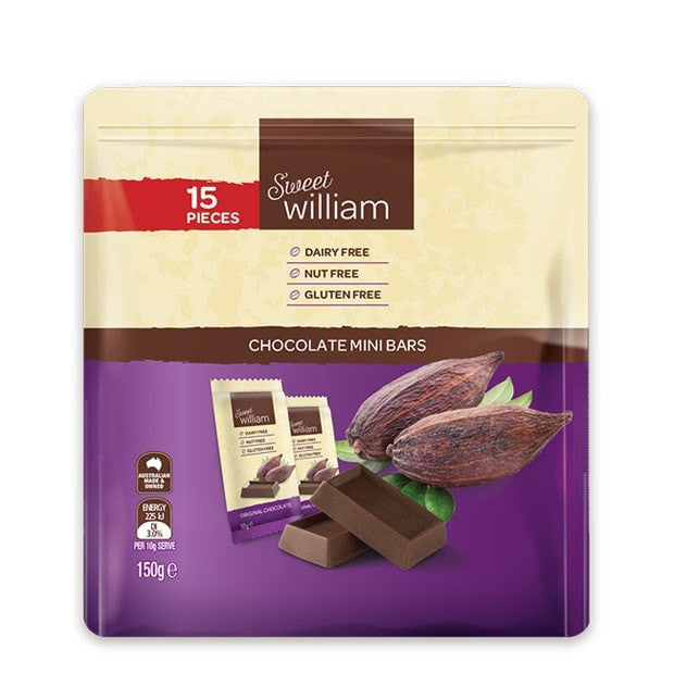 Sweet William Chocolate Mini Pack 150g - Happy Tummies