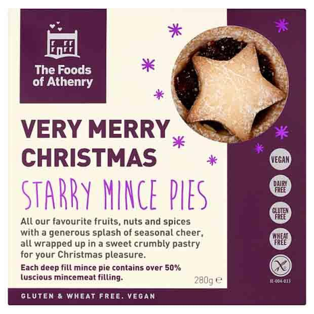 The Foods of Athenry Starry Vegan Mince Pies 280g - Happy Tummies