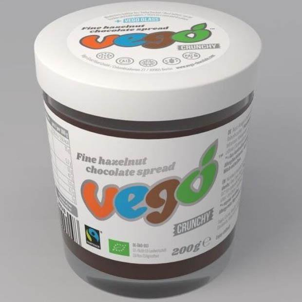 Vego Hazelnut Chocolate Spread Crunchy 200g - Happy Tummies