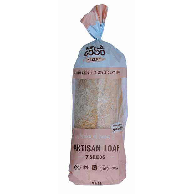 Well & Good Bake At Home Artisan Loaf 7 Seeds 500g - Happy Tummies
