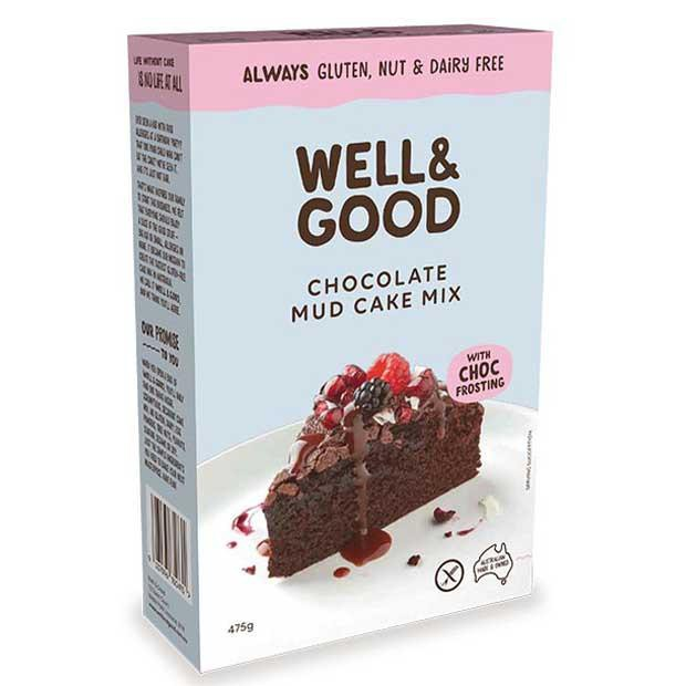 Well & Good Chocolate Mud Cake Mix 475g - Happy Tummies