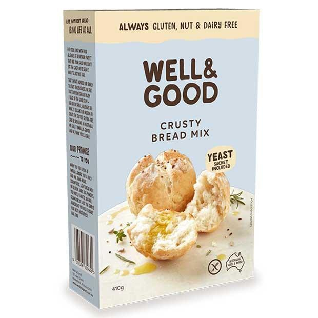 Well & Good Crusty Bread Mix 410g - Happy Tummies