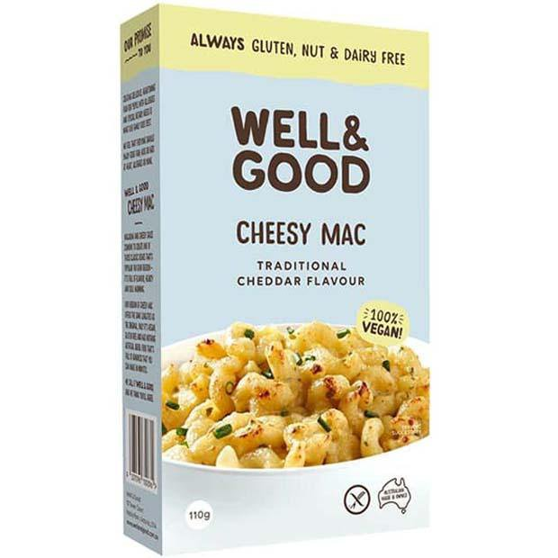 Well & Good Cheesy Mac Traditional Cheddar 110g - Happy Tummies