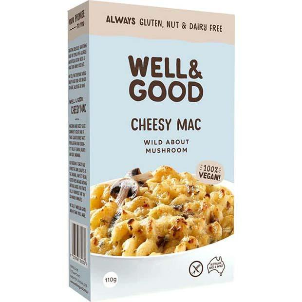 Well & Good Cheesy Mac Mushroom 110g - Happy Tummies