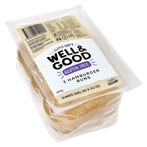 Well & Good 3 Hamburger Buns 300g **Select EXPRESS Shipping at Checkout** - Happy Tummies