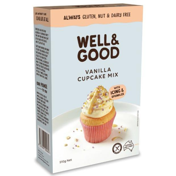 Well & Good Vanilla Cupcake Mix 510g - Happy Tummies