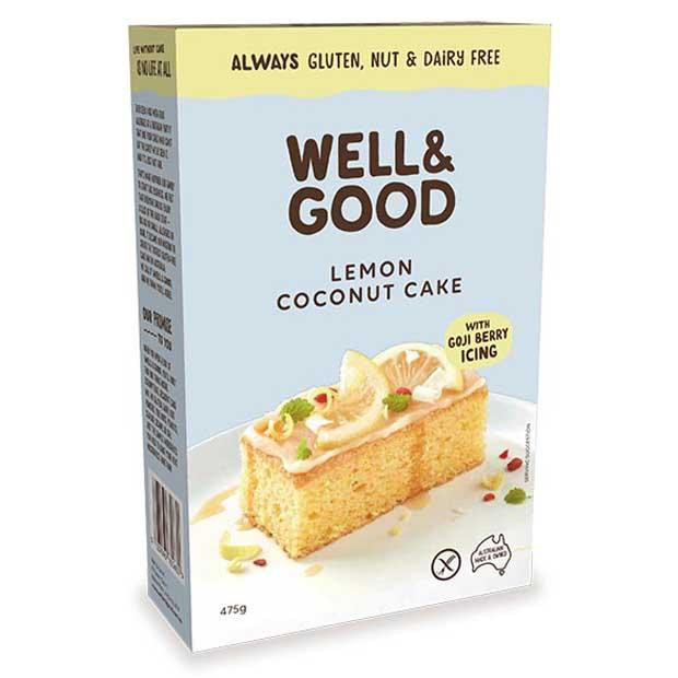 Well & Good Lemon Coconut Cake 475g - Happy Tummies