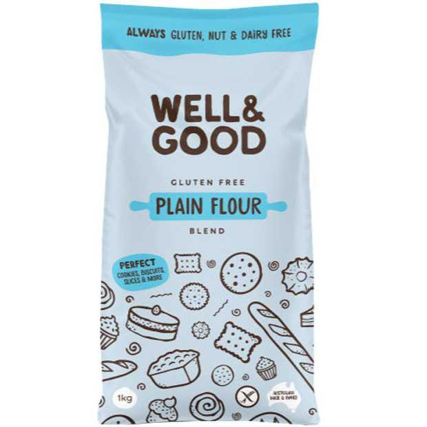 Well & Good Gluten Free Plain Flour 1kg - Happy Tummies