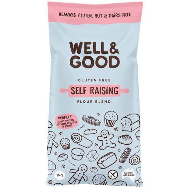 Well & Good Gluten Free Self Raising Flour 1kg - Happy Tummies