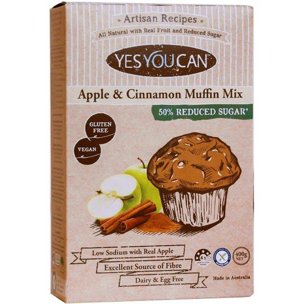 Yes You Can Artisan Apple and Cinnamon Muffin Mix 400g - Happy Tummies