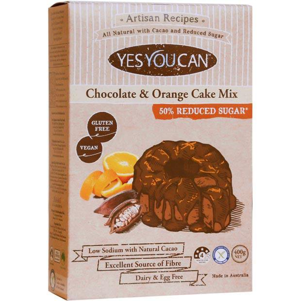 Yes You Can Artisan Chocolate and Orange Cake Mix 400g - Happy Tummies