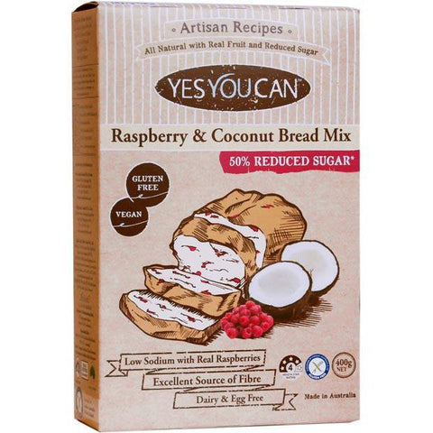 Yes You Can Artisan Raspberry and Coconut Bread Mix 450g