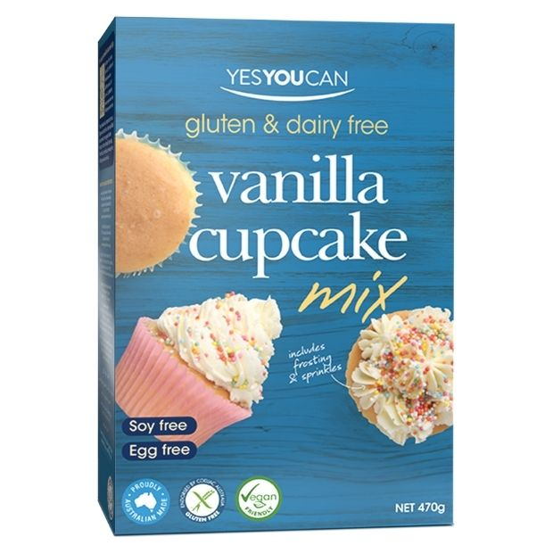 Yes You Can Vanilla Cupcake Mix 470g - Happy Tummies