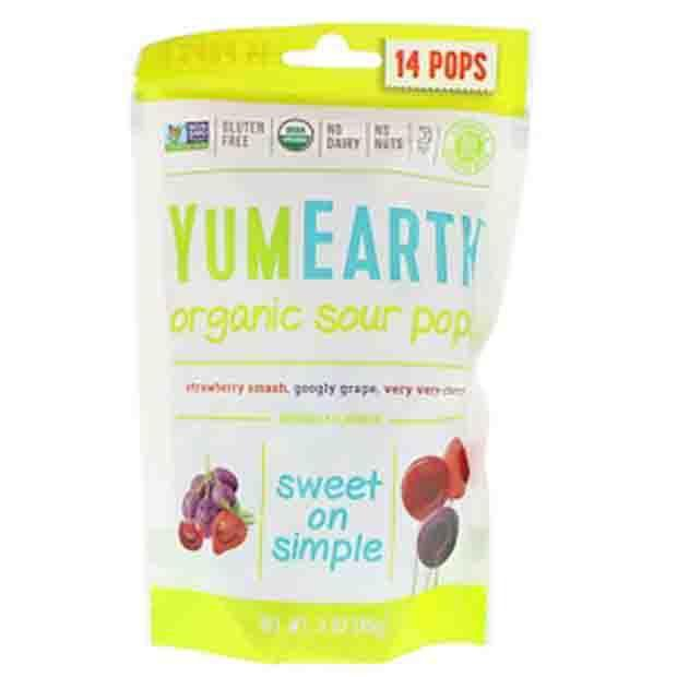 Yum Earth Organics Sour Pops - Happy Tummies