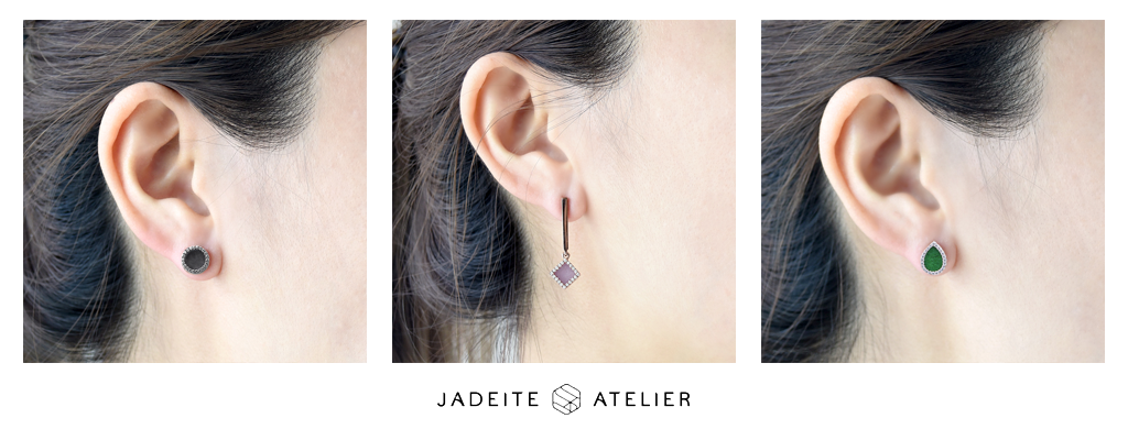 Jadeite Atelier : Jade Earrings