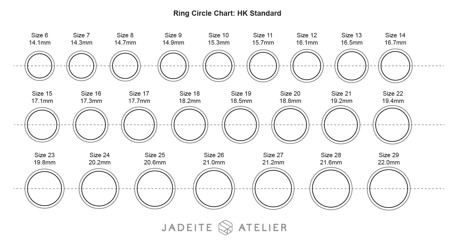 Ring Size Guide Jadeite Atelier