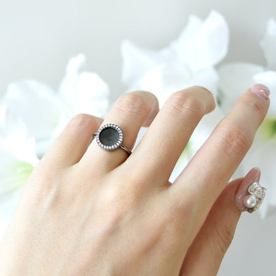 ETERNITY 緣 Ring in Black Jade