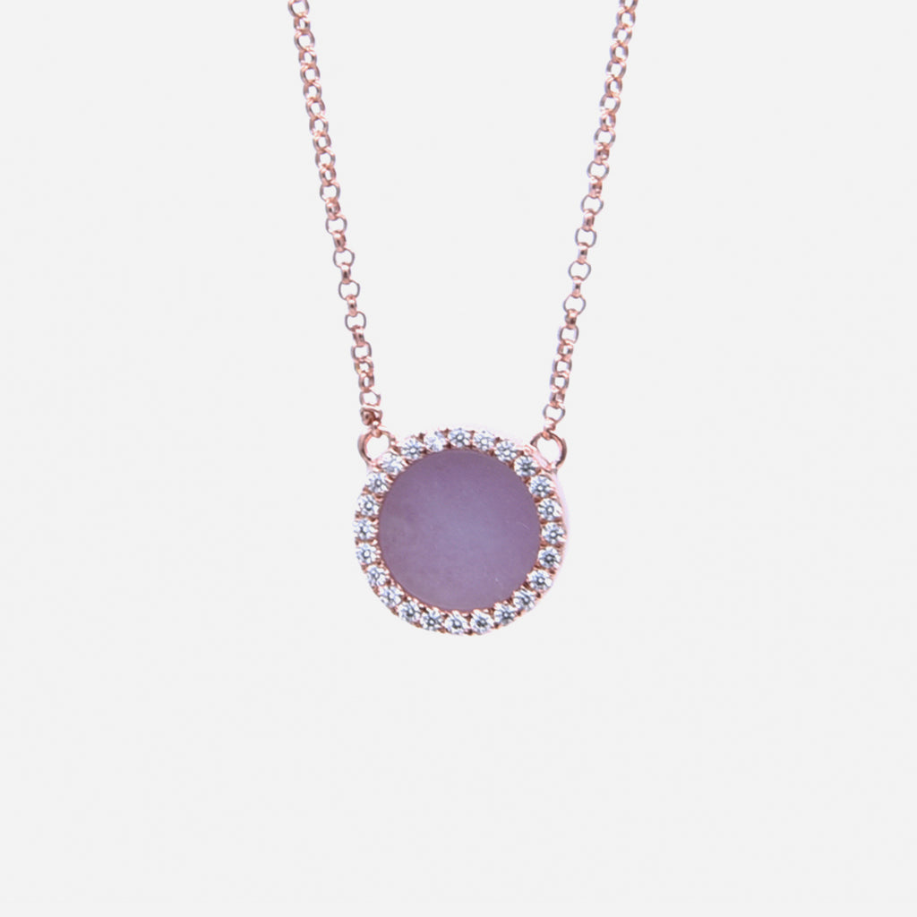 ETERNITY 緣 Necklace in Lavender Jade