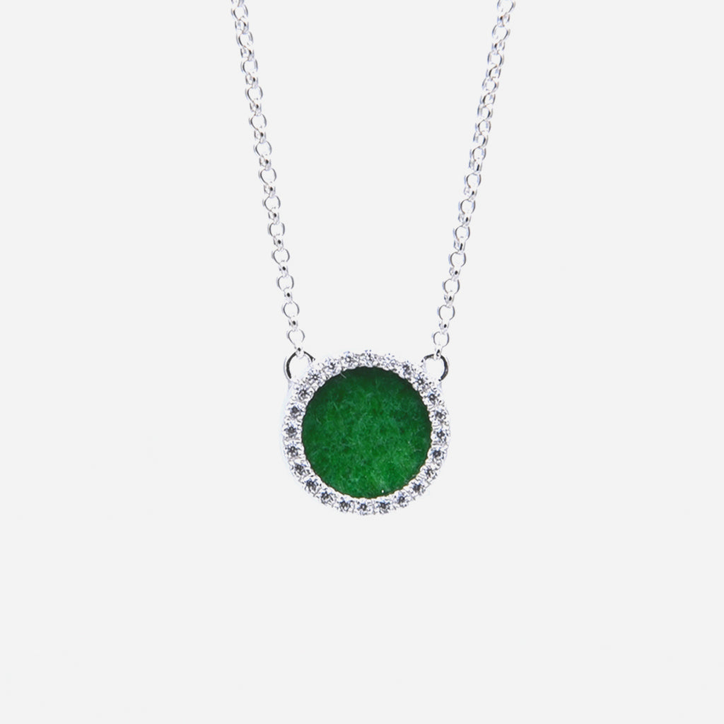ETERNITY 緣 Necklace in Green Jade