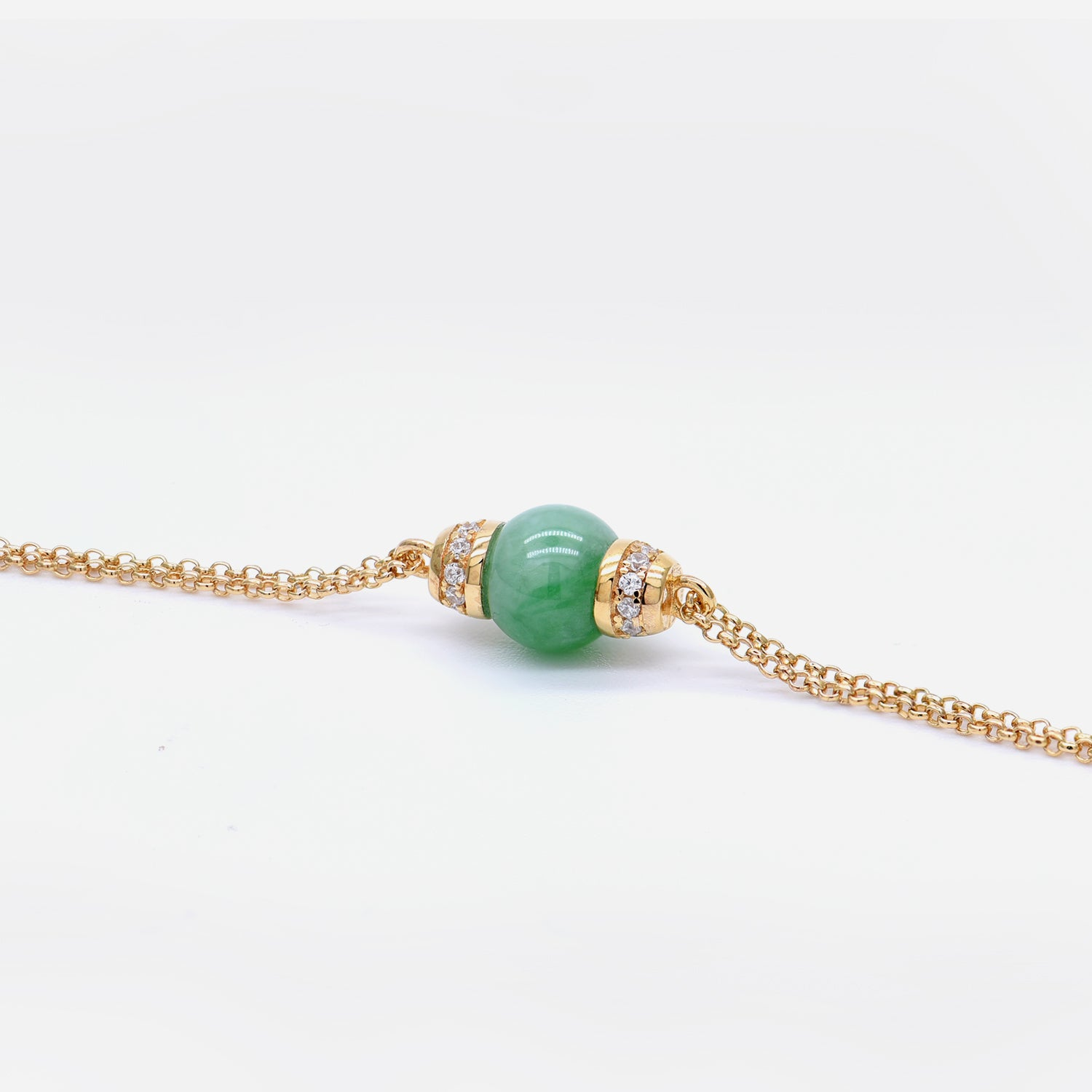EDEN 悅 Bracelet in Green Jade